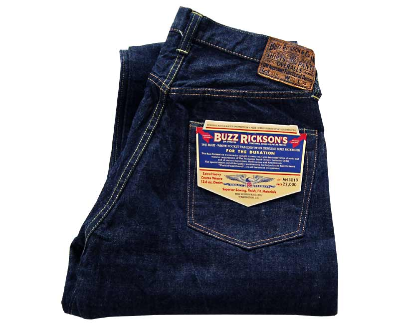 Buzz Rickson's(バズリクソンズ) ジーンズ 13.6oz WWII BULE DENIM WAST OVERALLS