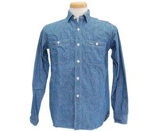 仓库仓库长袖衬衫三针工作衬衫纺