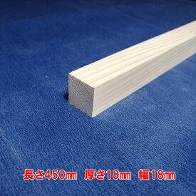 【越後杉】 木材 杉 角 角材 長さ450mm×厚さ18mm×幅18mm DIY 工作用木材 無垢材 無節 自然乾燥