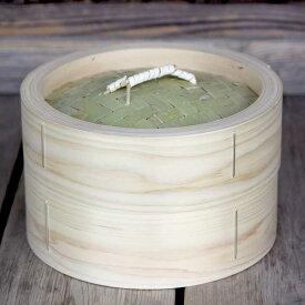 【国産】檜中華蒸籠(せいろ)蒸し料理が美味しくできる日本製蒸し器24cm身蓋セット