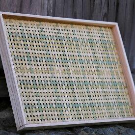 梅干しの土用干し約6kg用干物や干し大根用にもえびら(竹編み平かご)四ツ目編み(大)