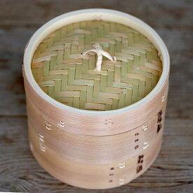 蒸し鍋、温野菜がおいしくできる蒸し器杉蒸籠(セイロ)18cm2段身蓋セット