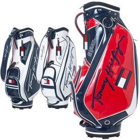 【月間優良ショップ受賞】 トミーヒルフィガー ゴルフ キャディバッグ メンズ 9.0型 約3.7kg 5分割 ブランド レア ホワイト ネイビー レッド 白 赤 紺 THMG1SC4