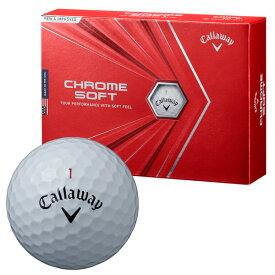 【月間優良ショップ受賞】 ゴルフボール キャロウェイ Callaway クロムソフト CHROME SOFT 1ダース 12球 メンズ レディース ツアーボール 無地 シンプル 白 ホワイト