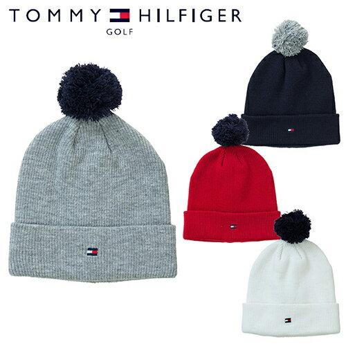 トミーヒルフィガー ゴルフ ポンポン ニット キャップ ニット帽 【THMB818F】 TOMMY HILFIGER GOLF 【あす楽対応】【smtb-f】