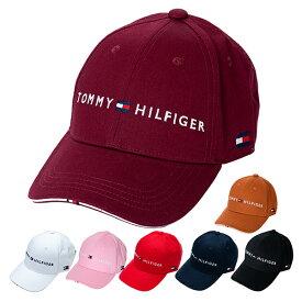 【月間優良ショップ受賞】 トミーヒルフィガー ゴルフ キャップ 帽子 メンズ レディース ロゴ サイズ調節 スポーツ 紺 白 黒 ベージュ 青 赤 ピンク 黄色 THMB90EF
