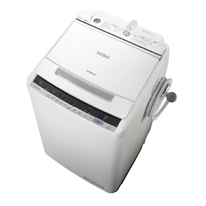 基本設置無料 日立 8kg 全自動洗濯機 BW-V80C-W ホワイト 東京23区近郊限定配送 HITACHI BWV80C ビートウォッシュ|8キロ インバーター 自動槽洗浄