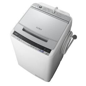 アウトレット 基本設置無料 東京23区近郊限定配送 日立 9kg 全自動洗濯機 BW-V90E-S シルバー HITACHI BWV90E