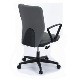 東京23区近郊限定配送 東洋事務器工業 ローバックタイプ オフィスチェア(リング肘付) 820JGR-GLグレー|オフィス用品 事務用品 チェア 回転椅子事務椅子 オフィス家具 激安チェア ワークチェア PCチェア 椅子 お買い得品