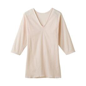 グンゼ 快適工房 V型7分袖スリーマー KH5046 カームベージュ Mサイズ 女性用肌着 婦人用肌着
