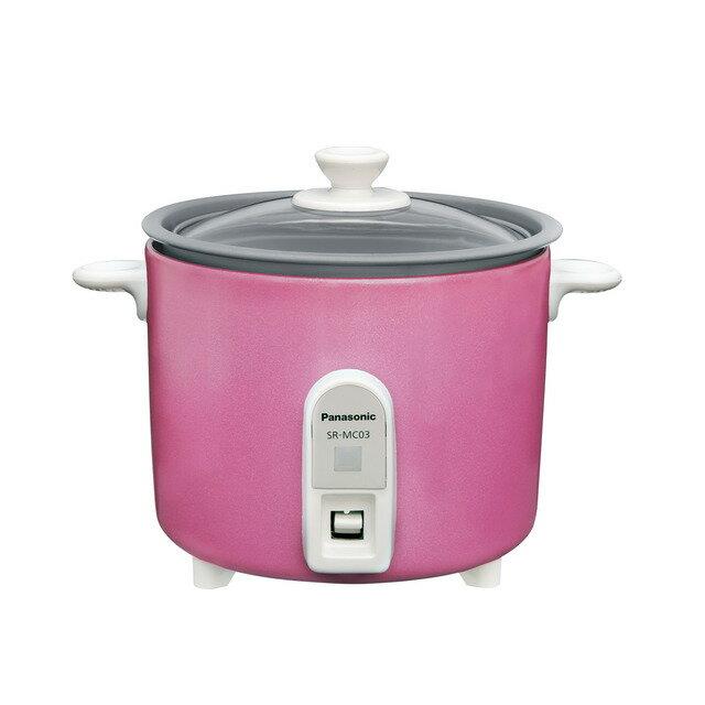 【送料無料!】パナソニック SR-MC03-P ピンク ミニクッカー Panasonic SRMC03 【炊飯器 1.5合炊き】|炊飯器 煮込み 電気調理器 小型 クッカー 簡単