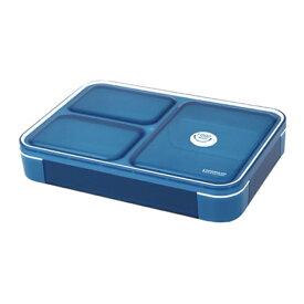 (レターパックプラス)シービージャパン 薄型弁当箱 フードマン 600ml クリアダークブルー CBJAPAN|ランチボックス A4サイズ スリム ロック式 密閉 汁漏れしない インスタ 話題 人気