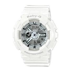 ポイント10倍【送料無料!】カシオ BA-110-7A3JF レディース腕時計 ベビーG|CASIO BABY-G 女性 ビッグケースシリーズ 白 WHITE ホワイト