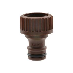 ガオナ ネジ口金 ワンタッチ接続用 (蛇口ニップル G1/2 ネジのある蛇口用 ブラウン) GA-QA007