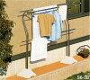 物干し台屋外ステンレスS6-3BグレーPPベース(1個あたり約20kg×2個)付