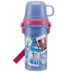直飲みコップ付きプラ水筒 アナと雪の女王2