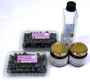 【無添加・手作り】ブルーベリーセット&【無農薬・完熟】生 ブルーベリー