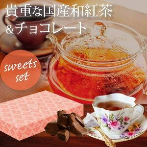 国産 100年紅茶+アップルチョコ ギフトセット(100年紅茶ティーバッグ×2、アップルチョコ×3) / バレンタイン バレンタインデー ホワイトデー プチギフト ギフト プレゼント プチプレゼント 誕