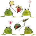 カエル 置物 (4匹セット,てんとう虫付き)置物 ブリキ 雑貨 グッズ かわいい オブジェ 05P27May16
