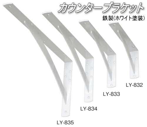 棚受け金具 カウンターブラケット 鉄製 幅38・150×300ミリ(2本入り)
