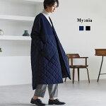【NewArrival】配色切り替えビッグキルティングコート