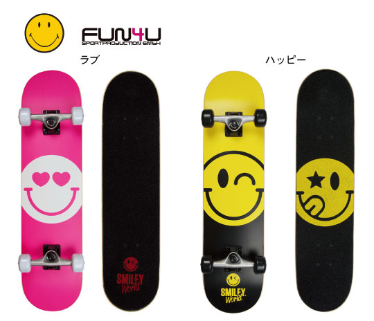 【Area】Skate Board Smileyエリア スケートボード スマイリーオフィッシャルスマイリースケートボード スケボー コンプリート 多少傷あり 大特価 特別価格