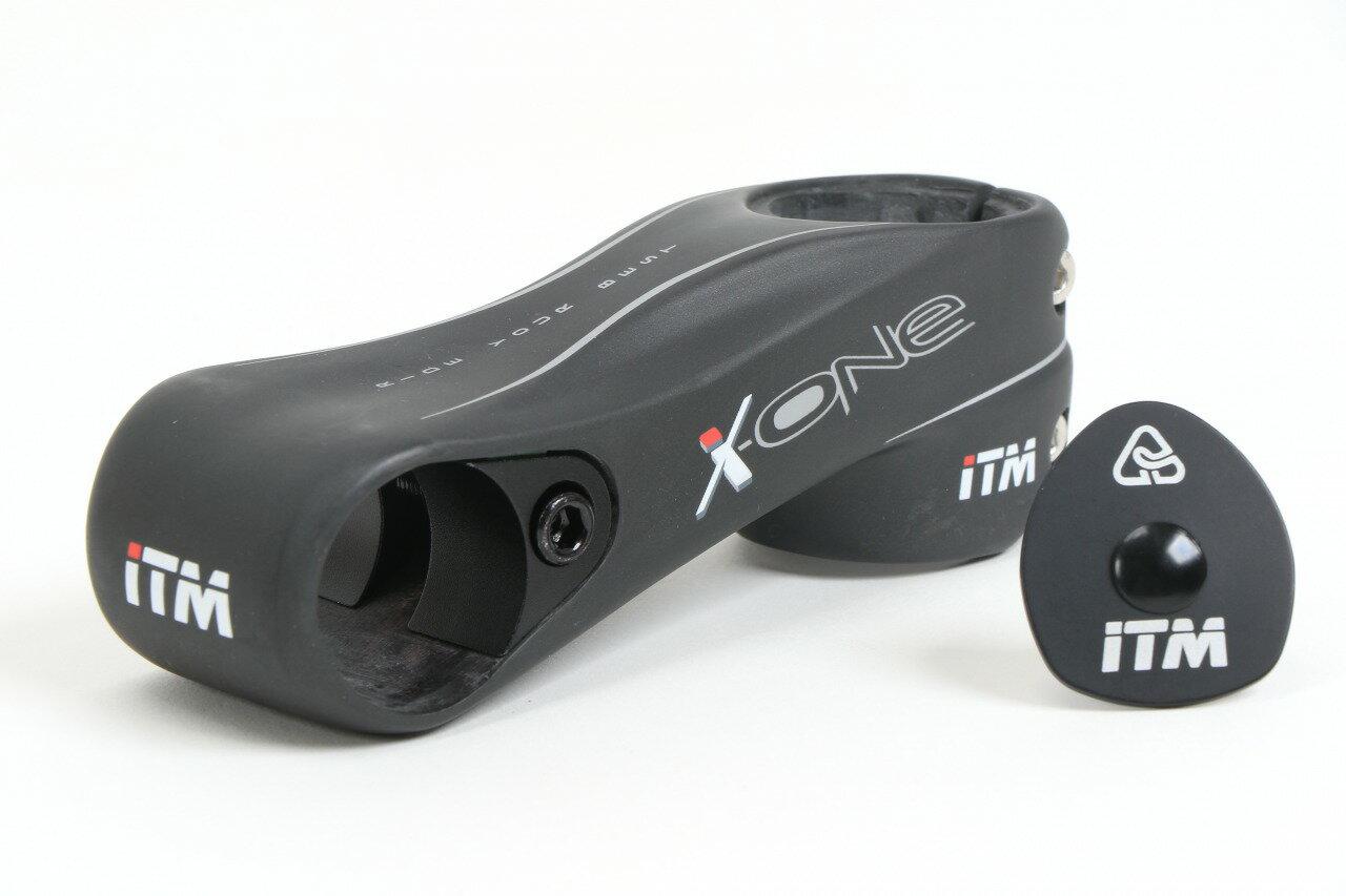 【ITM】イタリアステム X-ONEカーボンモノコック製 超軽量 X-ONE ステムGWS、GRIP WEDGE SYSTEMによって確実にハンドルバーを固定コラム径1-1/4にも対応します。