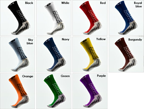 【TRUSOX】トゥルーソックスミッド丈・シン(薄手)サッカー 野球 ラグビー あらゆるスポーツにスパイクの中の摩擦、滑りを無くす靴下。