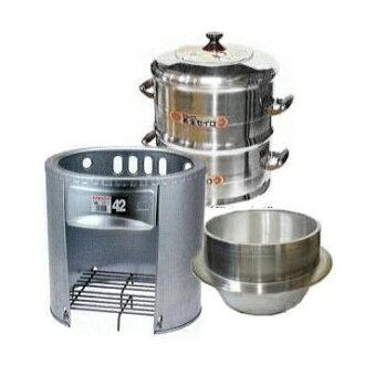 Home kamado set oven 42 cm 30 cm pails served 30 cm 2-stage 3-piece set [mochi mochi cooking authentic kamado Taki shopping]