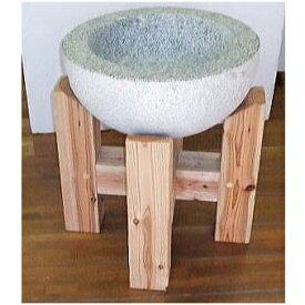 [餅つきセット] 餅つき 白みかげ石臼(3升用)杉材石臼台 2点セット [瀧商店]