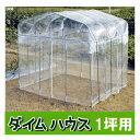 ビニール温室 ダイムハウス(ビニールハウス)1坪【smtb-ms】