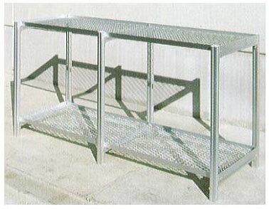 フラワースタンド 温室用2段棚チャッピー用アルミベンチ 5-2S 【smtb-ms】