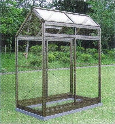 アルミ製 ガラス温室 チャッピー A-1型 0.5坪【smtb-ms】 CYP-A1G 1000×1800×2146mm 大仙
