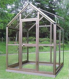 アルミ製 ガラス温室 チャッピー B-1型 1坪 [エクステリア 農機具 瀧商店] CYP-B1G 1800×1800×2372 大仙