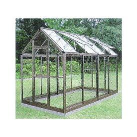 アルミ製 ガラス温室 チャッピー B-2 2坪[エクステリア 農機具 瀧商店] CYP-B2G 1800×3576×2372 大仙