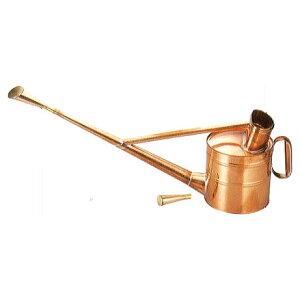 根岸産業 銅製 英国型如雨露 4号 英国式ジョーロ 約4L 斜口・直口付き [如露 じょうろ ジョロ 瀧商店]