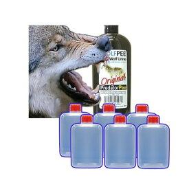 正規輸入品 (いのしし対策に) ウルフピー WolfPee 340g 容器6個付[イノシシ 防獣対策 狼の尿 瀧商店]【園芸用品】