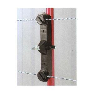 末松電子製作所 電気牧柵用 樹脂被膜鋼管支柱用(ゲッターパイル用)Wガイシ(14〜20mmの支柱用) 50個セット 【307】