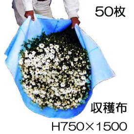収穫袋 収穫布 ベンリークロス H750×1500 ブルー 50枚セット ネギマキネット (法人限定送料無料)