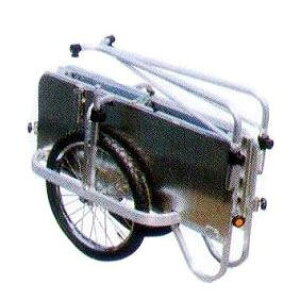 長谷川 コンパック HC-906NA アルミ製 折りたたみ式リヤカー側板つき ノーパンクタイヤ hara0070