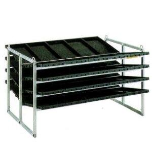 昭和ブリッジ 育苗棚 (傾斜収納型) NC-40K-20 アルミ製 苗箱運搬 苗箱収納棚 (棚間隔230mm) haya
