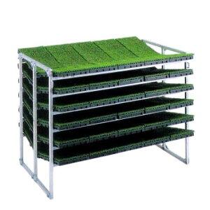 昭和ブリッジ 育苗棚 (傾斜収納型) NC-60K アルミ製 苗箱運搬 苗箱収納棚 haya