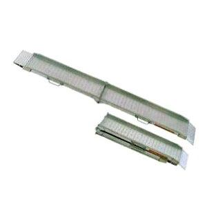 (2本セット 限定特価) 昭和ブリッジ SGW-210-30-0.3S (全長2.1m×有効幅30cm) 0.3トン アルミブリッジ (セーフベロタイプ) SGW-S型 踏面スキ間ナシ折りたたみ式