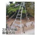 アルステップ 三脚脚立 AMP-7 (2.1M) アルミ製 造園プロ用3本伸縮タイプ 【smtb-ms】