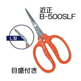 近正 ぶどう鋏 B-500SLF L型 曲げ刃 チカマサ ステンレスフッソ加工 ぶどう手入れ鋏 目盛付き