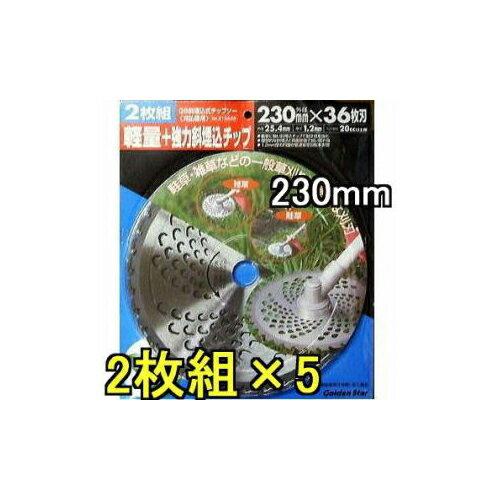 ゴールデンスター キンボシ激安 2枚組×5(10枚) 斜埋込チップソー 230mm×36P