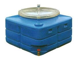 スイコー 輸送用 活魚タンク 500L バルブ付き (フタ透明 青選択)[スイコー] ※個人宅配送不可