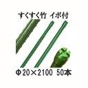 すくすく竹 イボ付 農業用支柱 20mm×2100mm 50本単位[すくすく竹 第一ビニール]