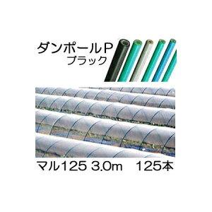 ダンポールP マル125 ×3.0m 黒 トンネル幅200cm 徳用 125本[トンネル支柱 アーチ支柱]