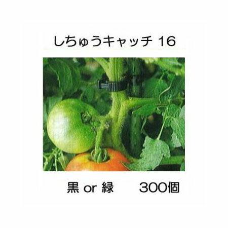 誘引資材 しちゅうキャッチ16(300個入) 黒or緑 色選択 支柱径16mm用